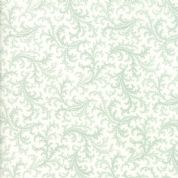 Moda - Porcelain - 3 Sisters - 6337 - Floral Plumes, Duckegg on Cream - 44194 22 - Cotton Fabric